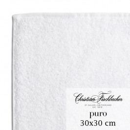 Christian Fischbacher Ručník na ruce/obličej 30 x 30 cm bílý Puro, Fischbacher
