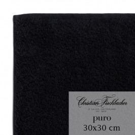 Christian Fischbacher Ručník na ruce/obličej 30 x 30 cm černý Puro, Fischbacher
