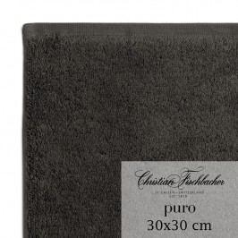 Christian Fischbacher Ručník na ruce/obličej 30 x 30 cm antracitový Puro, Fischbacher