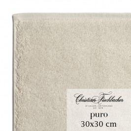 Christian Fischbacher Ručník na ruce/obličej 30 x 30 cm pískový Puro, Fischbacher