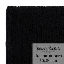 Christian Fischbacher Koupelnový kobereček 50 x 80 cm černý Dreamtuft Puro, Fischbacher