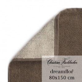 Christian Fischbacher Osuška 80 x 150 cm dvoubarevná písková/hnědá Dreamflor®, Fischbacher