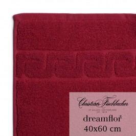 Christian Fischbacher Ručník pro hosty velký 40 x 60 cm bordeaux Dreamflor®, Fischbacher