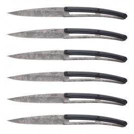 deejo Sada steakových nožů 6dílná PaperStone®, titanium Toile de Jouy