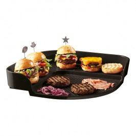 Emile Henry Grilovací plát Burger Party antracitový Charcoal