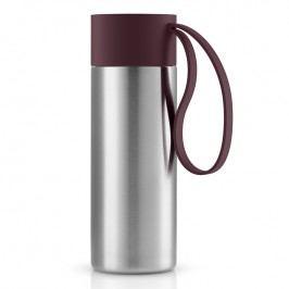 Eva Solo Nerezový termohrnek To Go 0,35 l s uzávěrem v tmavé burgundy