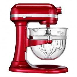 KitchenAid Kuchyňský robot Artisan se skleněnou mísou 6,0 l červená metalíza