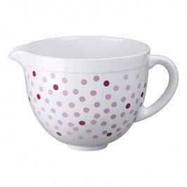 KitchenAid Keramická mísa růžové puntíky