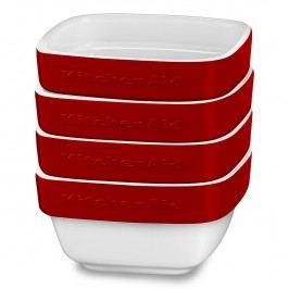 KitchenAid Sada zapékacích keramických misek/ramekinů 4 ks královsky červená