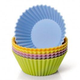 KAISER Sada barevných silikonových formiček na muffiny 6 kusů Muffin World
