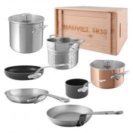 MAUVIEL Sada základního nádobí v originálním dřevěném boxu Essential