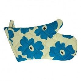 MÜkitchen Kuchyňská chňapka/rukavice s modrými květy MÜincotton®