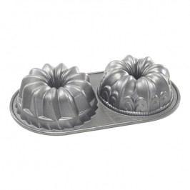 Nordic Ware Forma na 2 malé bábovky Duet Bundt® stříbrná