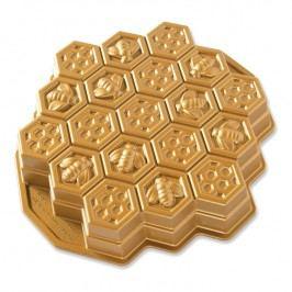 NordicWare Forma ve tvaru včelí plástve Honeycomb Pull-Apart Bundt® zlatá, Nordic Ware