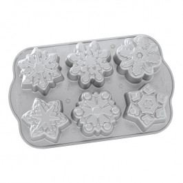 NordicWare Forma na 6 sněhových vloček Frozen Snowflake Bundt® stříbrná, Nordic Ware