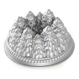 NordicWare Forma na bábovku se stromečky Pine Forest Bundt® stříbrná, Nordic Ware