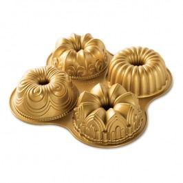 Nordic Ware Forma na 4 malé bábovky Quartet Bundt® zlatá