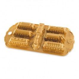 Nordic Ware Forma na 7-dílný piškotový vláček Nordic Express Bundt® zlatá