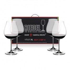 Riedel Výhodné balení 3+1 ks zdarma sklenic Pinot Noir Vinum XL