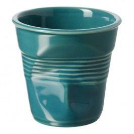 REVOL Kelímek na cappuccino 18 cl modrozelený Froissés