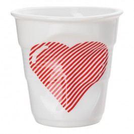 REVOL Kelímek na cappuccino 18 cl Coeur Froissés
