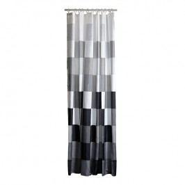 ZONE Sprchový závěs s čtverci 180 x 200 cm black