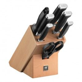 ZWILLING Sada nožů s blokem, ocílkou a nůžkami 8dílná TWIN® Four Star II