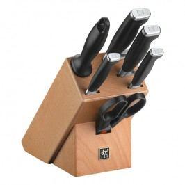 ZWILLING Sada nožů s blokem, ocílkou a nůžkami 7dílná TWIN® Four Star II