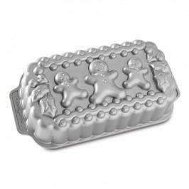 Nordic Ware Forma na chlebíček Gingerbread Family Loaf Bundt® stříbrná