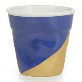 REVOL Kelímek na espresso 8 cl Twist Blue Up Froissés