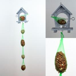 Závěsné krmítko pro ptáky s krmením 87cm