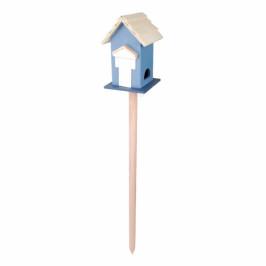 Krmítko na noze domeček modrý 17,5x17,2x114cm