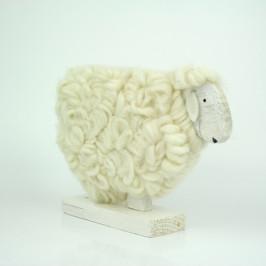 Velikonoční dekorace ovce z vlny bílá 25cm