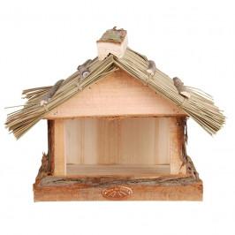 Krmítko pro ptáky s doškovou střechou 28x18x22,8cm