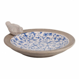Ptačí koupel keramická modrobílá
