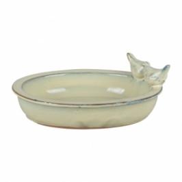 Pítko pro ptáky keramická miska - krémová - vyřazeno