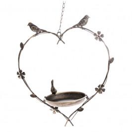 Ptačí pítko se závěsem srdce
