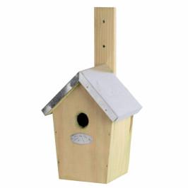 Dřevěná ptačí budka 15x12,6x30cm