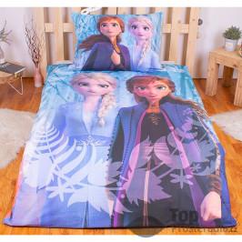TOP Bavlněné povlečení Frozen II Snowflakes 140x200+70x90