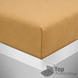 TOP Jersey prostěradlo Premium 180g/m2 160x200 Jantarová