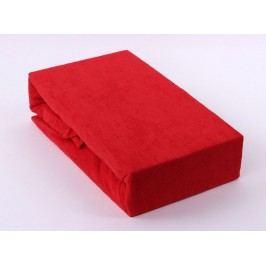 TP Froté prostěradlo Premium 190g/m2 180x200 Červená
