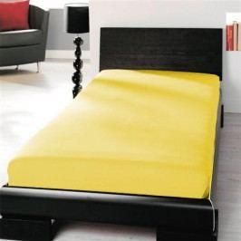 TP Jersey prostěradlo Premium 190g/m2 90x200 Žlutá