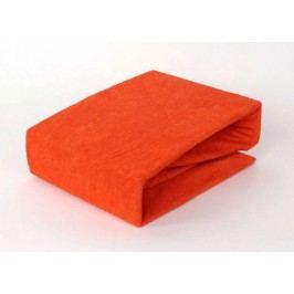 TP Froté prostěradlo Premium 190g/m2 160x200 Oranžová