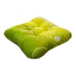 TP Sedák na židli 40x40 Molitanový Zelené bubliny