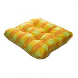 TP Sedák na židli 40x40 Molitanový Oranžovozelené kostky