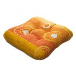 TP Sedák na židli 40x40 Molitanový Oranžové bubliny