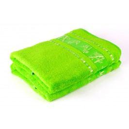 Bamboo LIFE Bambusový ručník nadměrná 70x90 Zelený