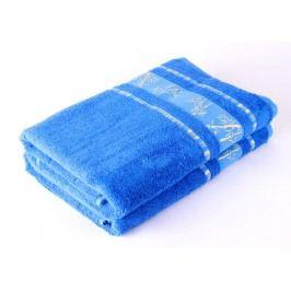 Bamboo LIFE Bambusový ručník nadměrná 70x90 Modrý