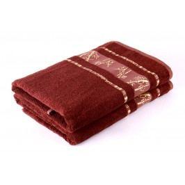 Bamboo LIFE Bambusový ručník nadměrná 70x90 Hnědý