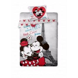 Dětské bavlněné povlečení 140x200 70x90 Mickey & Minnie v Paříži